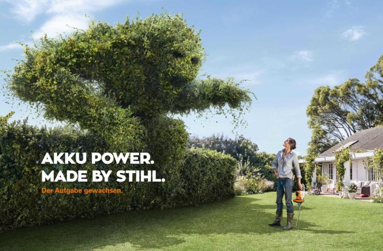 Akku power. Made by Stihl